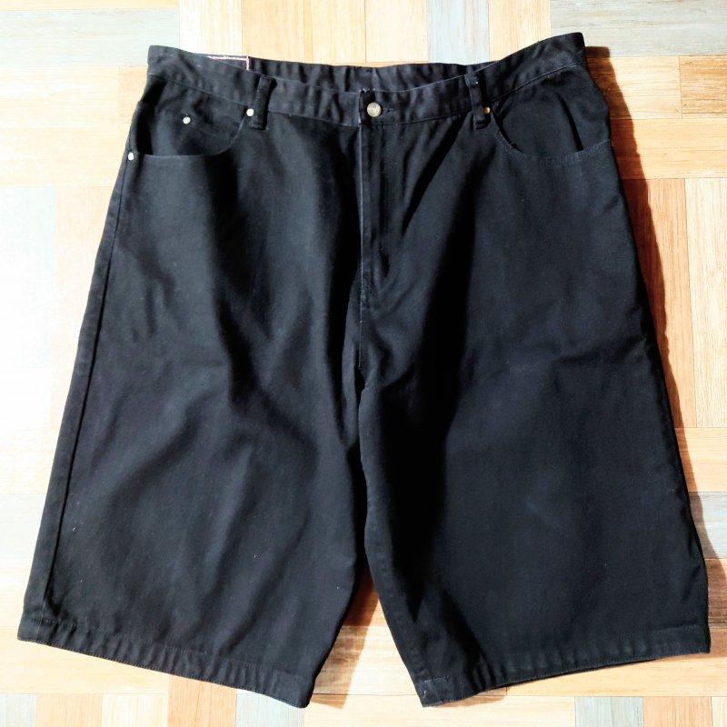 90's Vintage KARL KANI ブラック デニム ショーツ (メンズ古着)