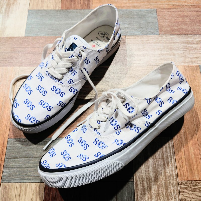 NOAH NYC SPERRY TOP SIDER SOS キャンバス スニーカー (メンズ古着)