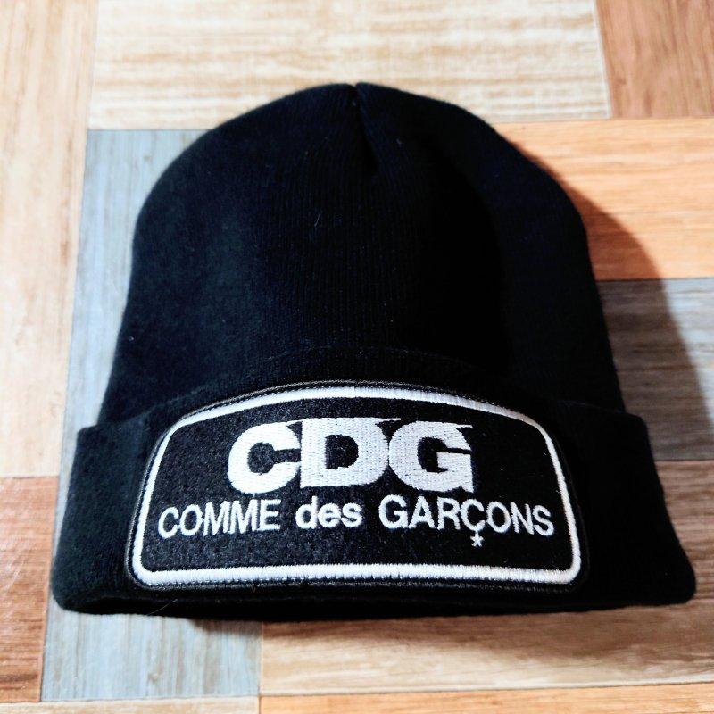 COMME des GARCONS CDG ビーニー ニット キャップ ブラック (USED&VINTAGE)