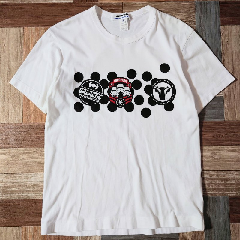 COMME des GARCONS SHIRT × STAR WARS コラボ Tシャツ ホワイト (メンズ古着)
