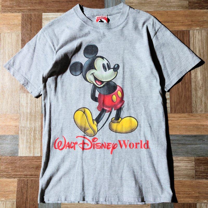 90's Vintage MICKEY,INC USA製 ミッキーマウス Tシャツ 杢グレー (メンズ古着)