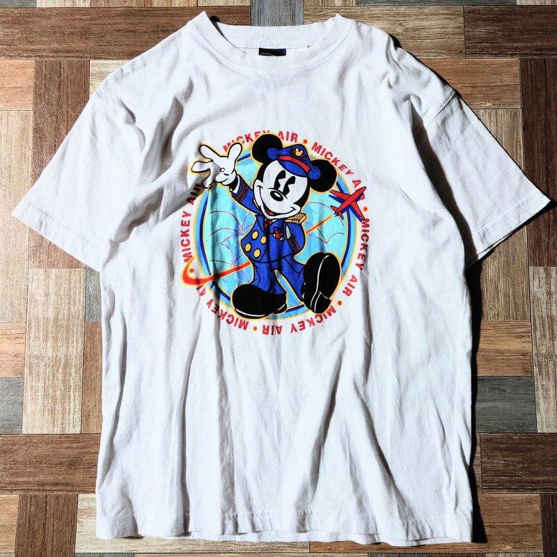 MICKEY'S WORLD ミッキーマウス Tシャツ ホワイト (メンズ古着)