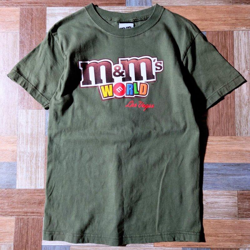 90's Vintage m&m's USA製 ロゴ Tシャツ オリーブグリーン (レディース古着)