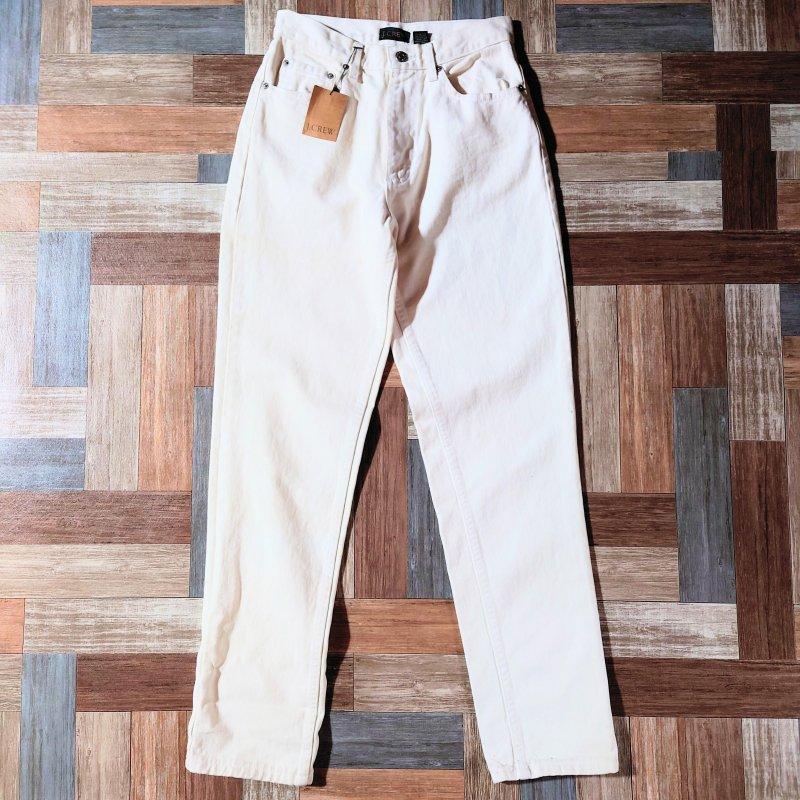 90's Vintage J.CREW USA製 ホワイト デニム パンツ DEAD STOCK (メンズ古着)