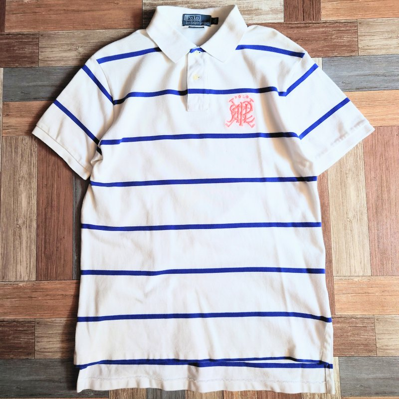 POLO RALPH LAUREN ボーダー ポロシャツ (メンズ古着)