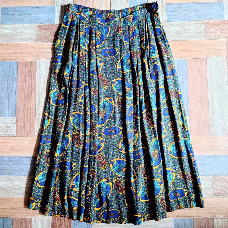 80~90's Vintage PENDLETON USA製 レーヨン 総柄 スカート (レディース古着)