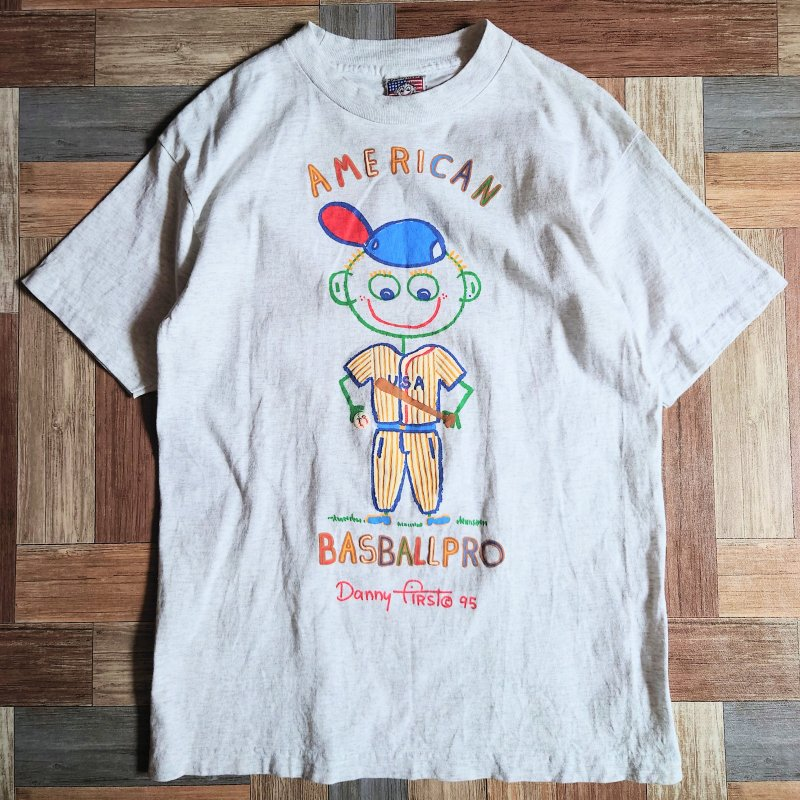 90's Danny first USA製 プリント Tシャツ (メンズ古着)