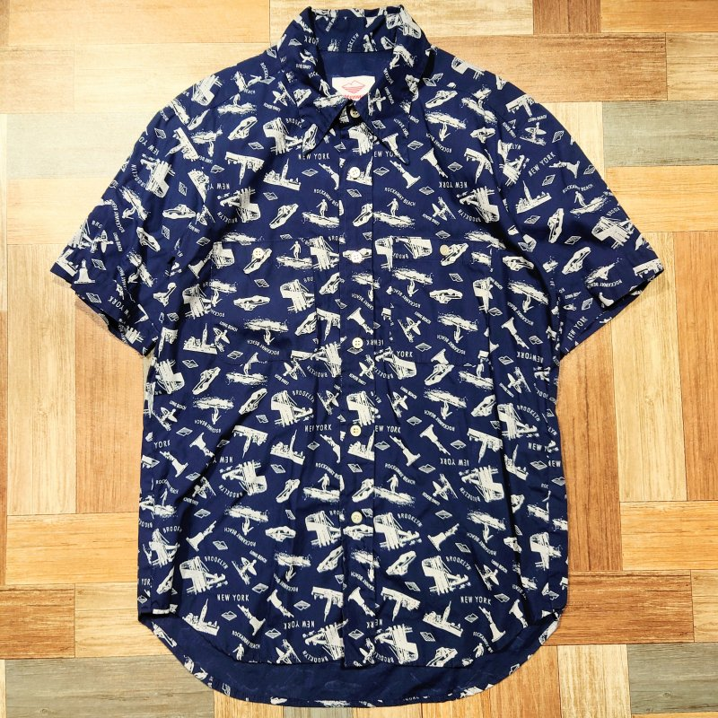 Batten Sportswear USA製 総柄 半袖 シャツ (メンズ古着)