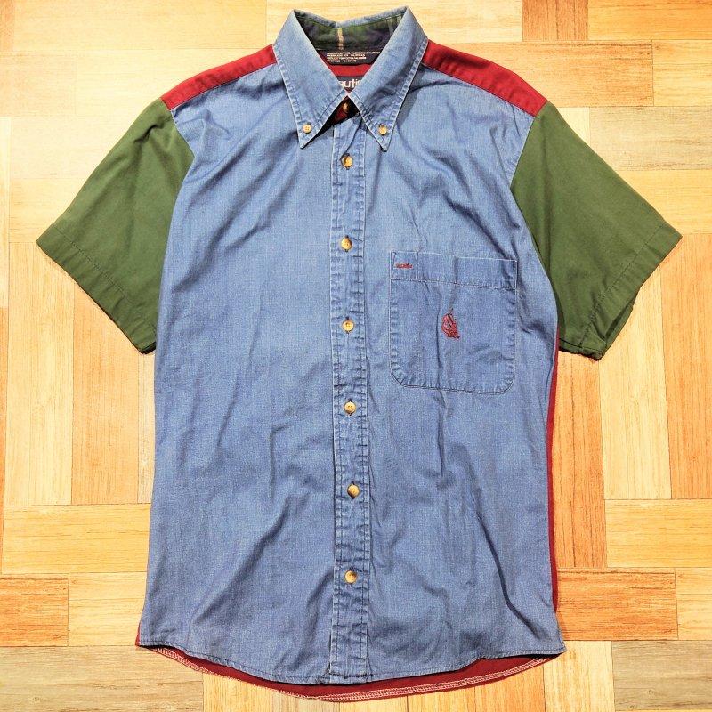 90's nautica 半袖 BD シャツ (メンズ古着)