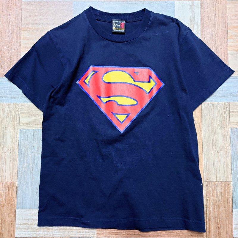Vintage スーパーマン Tシャツ ネイビー (メンズ古着)