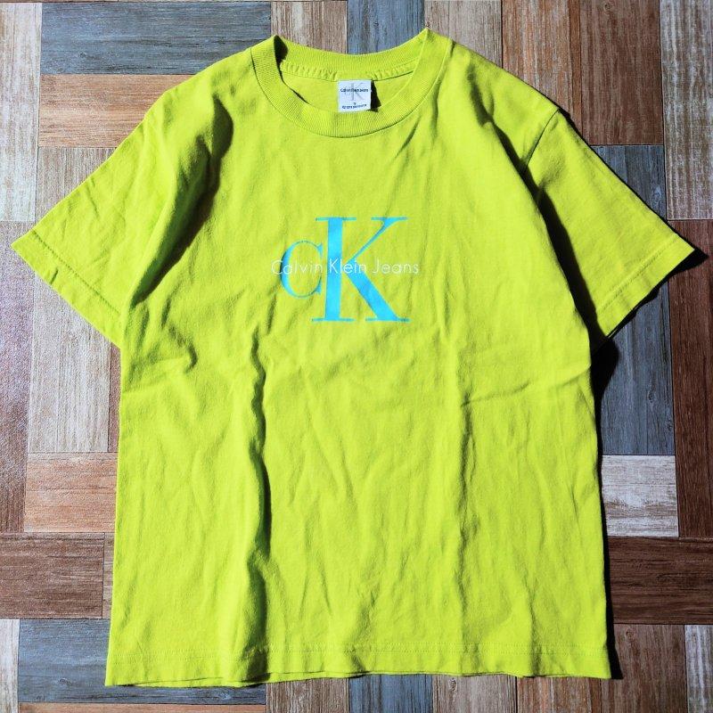 90's Calvin Klein Jeans USA製 ロゴ Tシャツ (レディース古着)