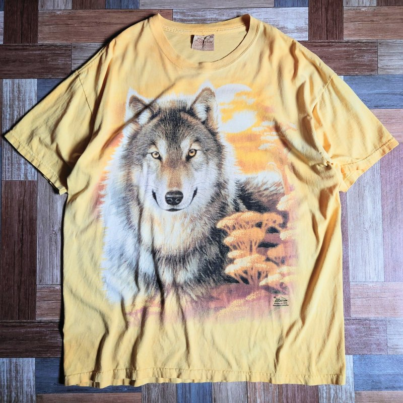 00's THE MOUNTAIN ウルフ Tシャツ (メンズ古着)