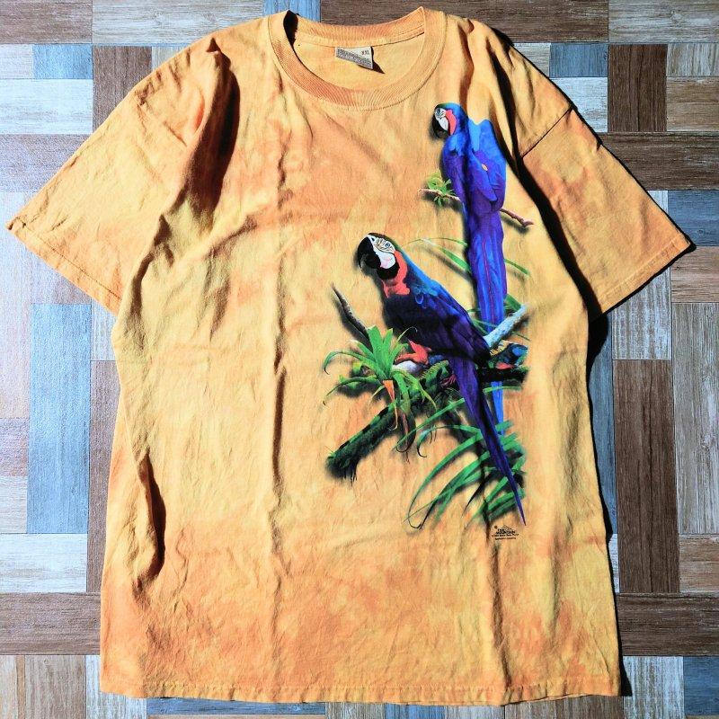 90's THE MOUNTAIN オウム Tシャツ (メンズ古着)