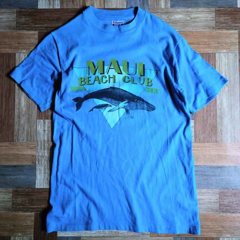 80's Hanes USA製 MAUI BEACH CLUB Tシャツ (メンズ古着)