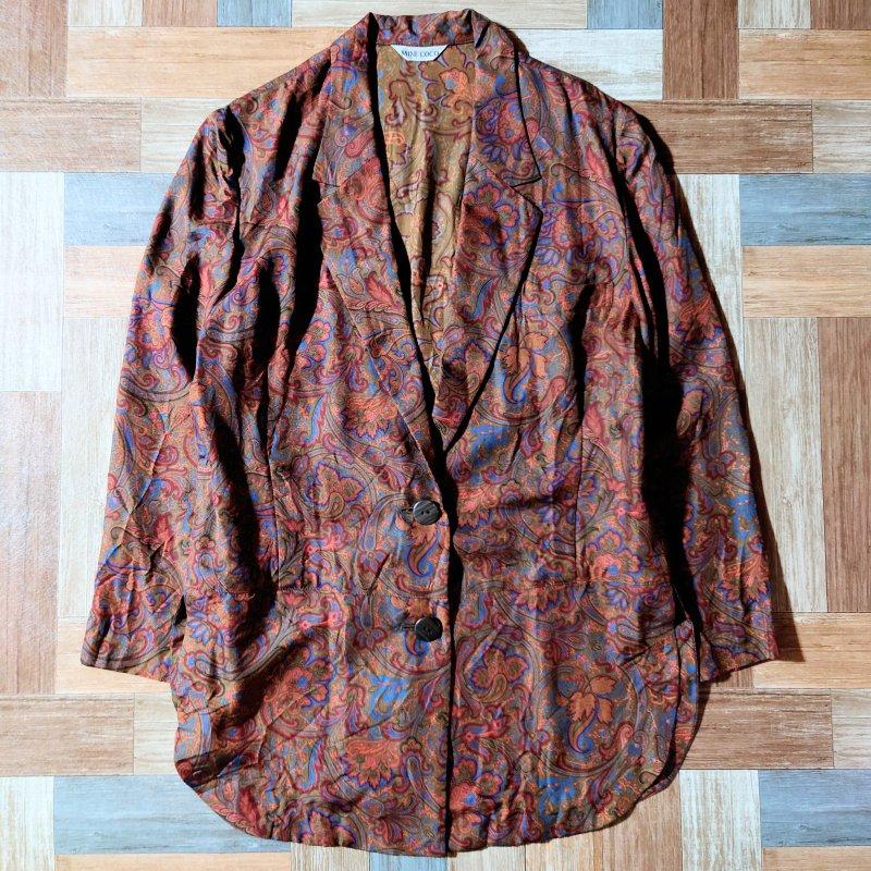 Vintage シルク ペイズリー ジャケット (レディース古着)