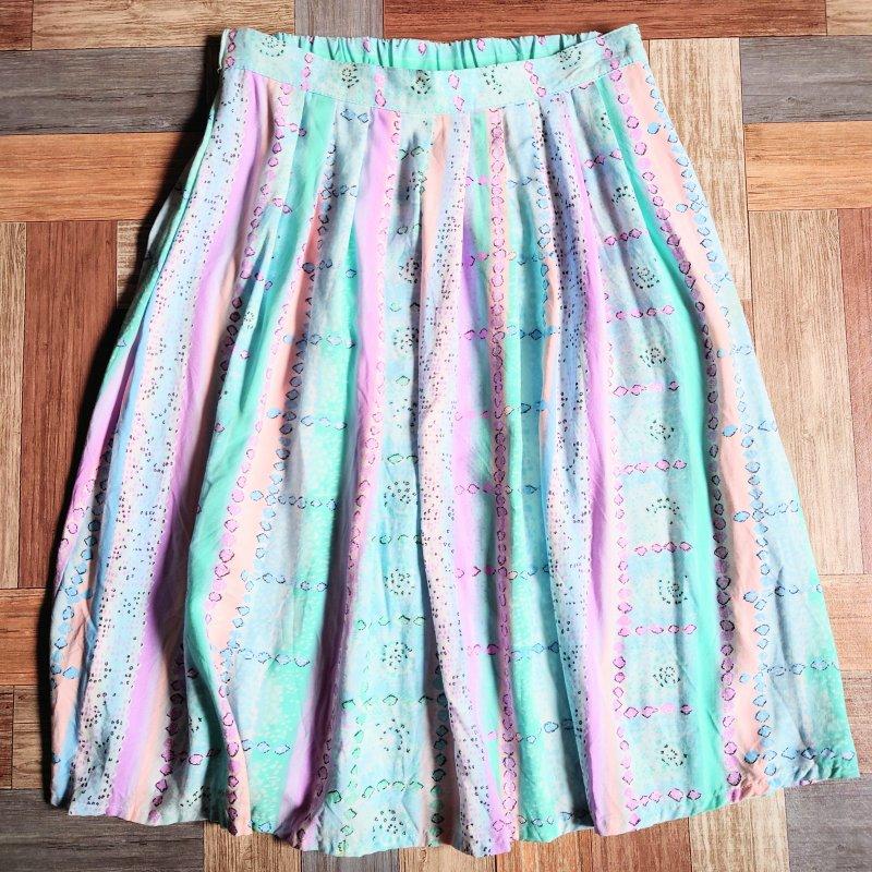 90's ALFRED DUNNER USA製 スカート (レディース古着)