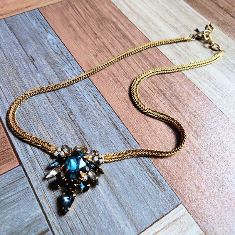 TOVA 石付き ネックレス ゴールドカラー (USED&VINTAGE)