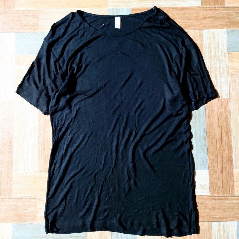 American Apparel ヴィスコース Tシャツ ブラック M (メンズ古着)
