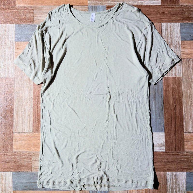 American Apparel ヴィスコース Tシャツ ベージュ M (メンズ古着)