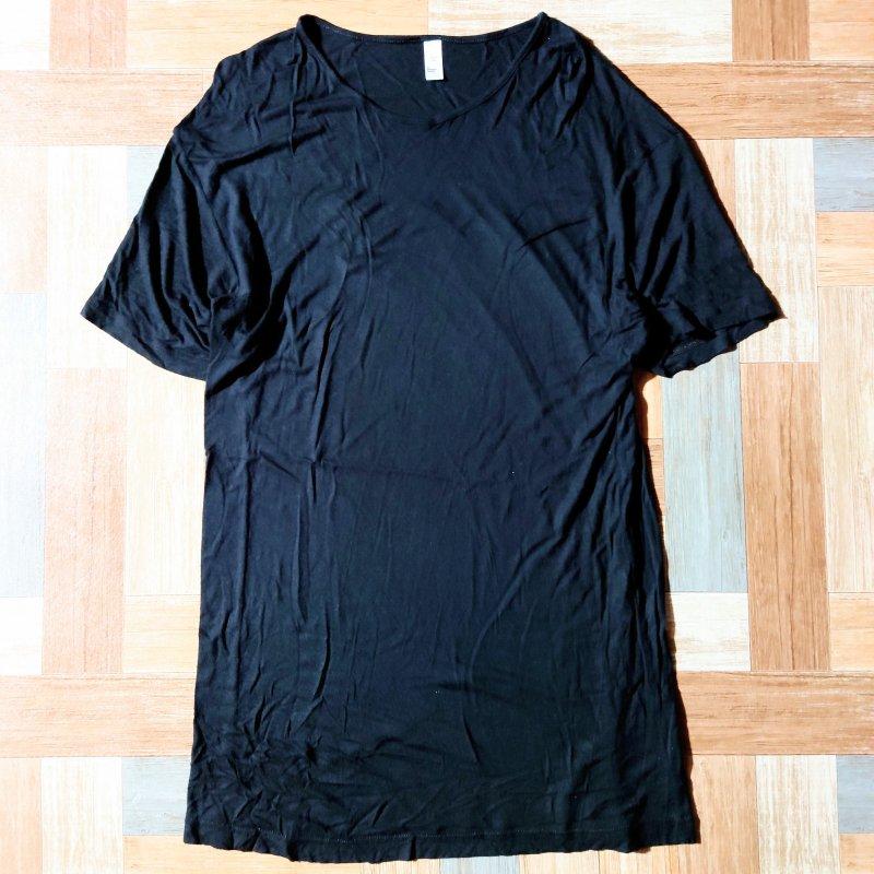 American Apparel ヴィスコース Tシャツ ブラック L(メンズ古着)