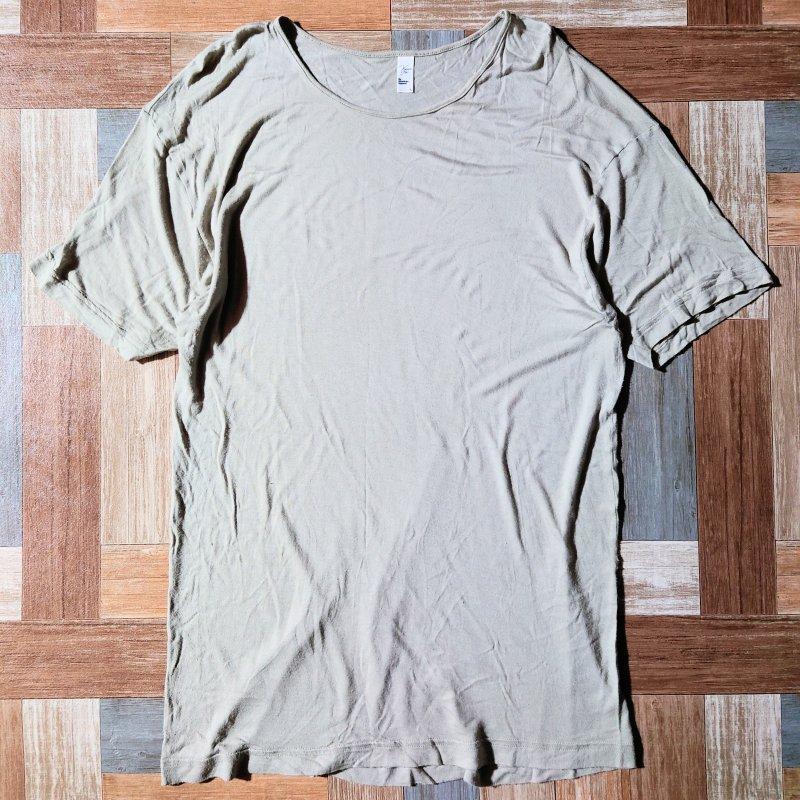 American Apparel ヴィスコース Tシャツ ベージュ L(メンズ古着)