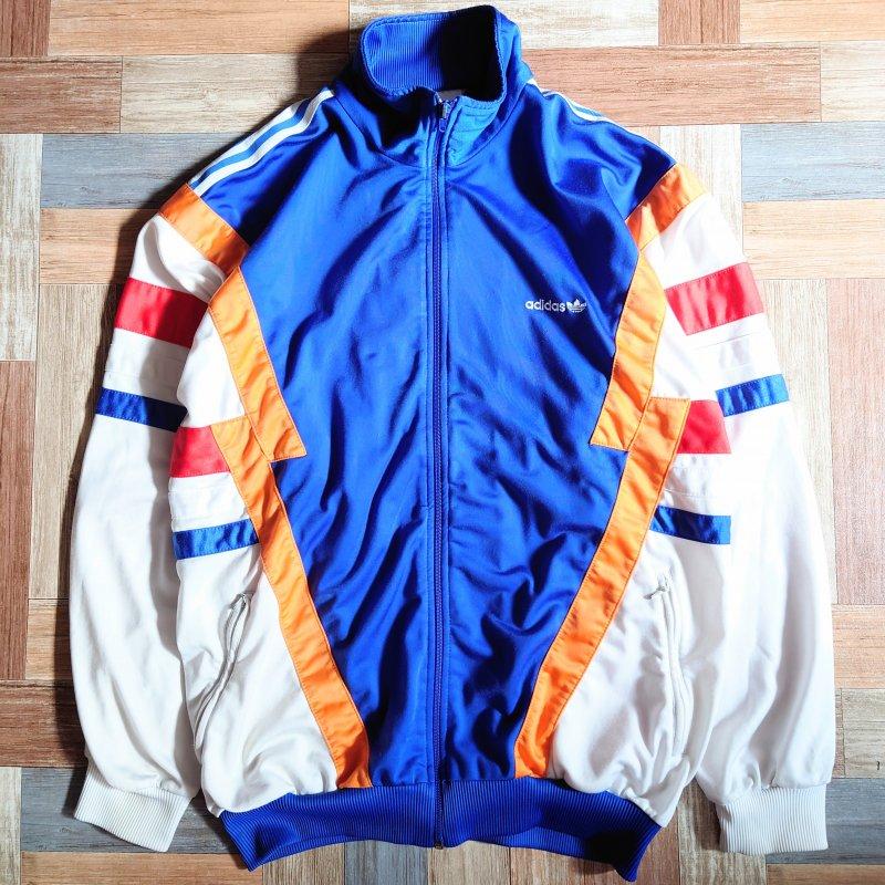 90's adidas トラック ジャケット ブルー (メンズ古着)