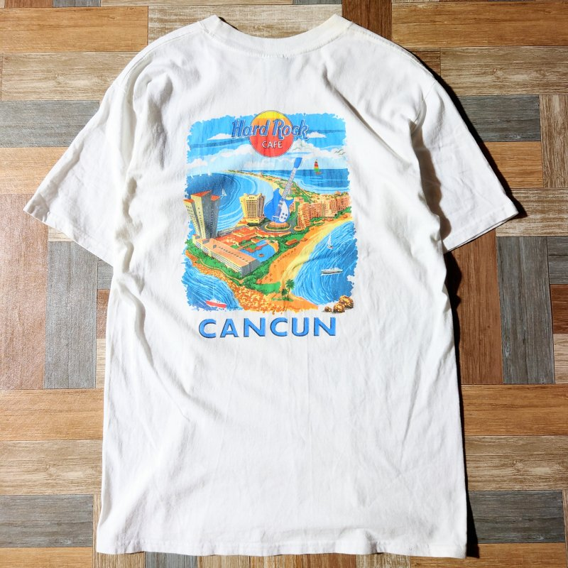 90's Hard Rock CAFE CANCUN Tシャツ (メンズ古着)
