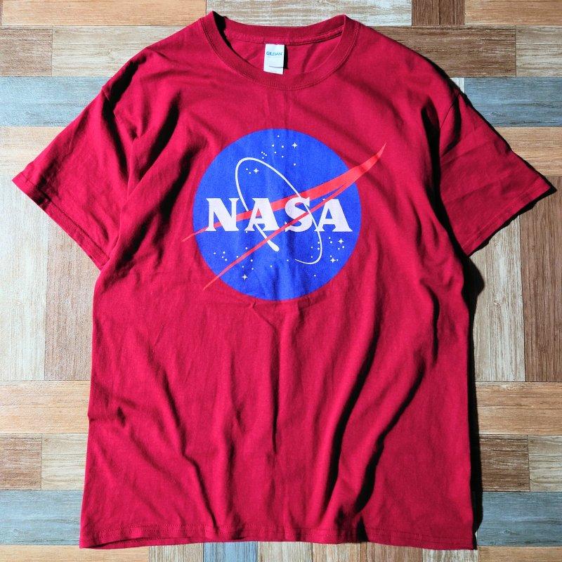 NASA Tシャツ ワインレッド (メンズ古着)