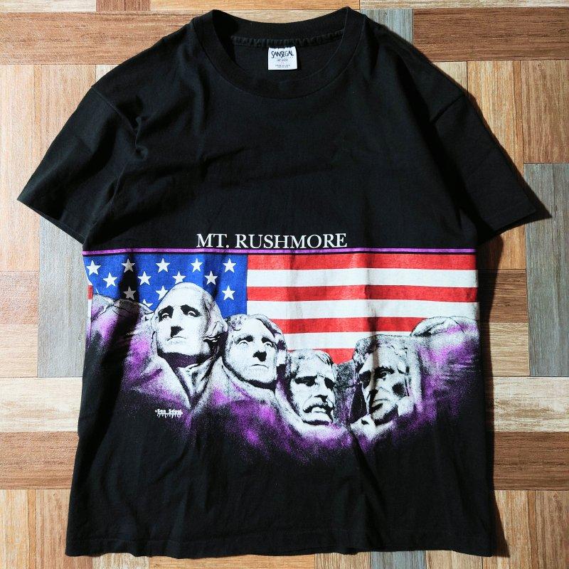 90's SANSEGAL USA製 Tシャツ ブラック (メンズ古着)