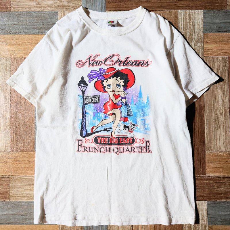 90~00's BETTY BOOP Tシャツ ホワイト (メンズ古着)