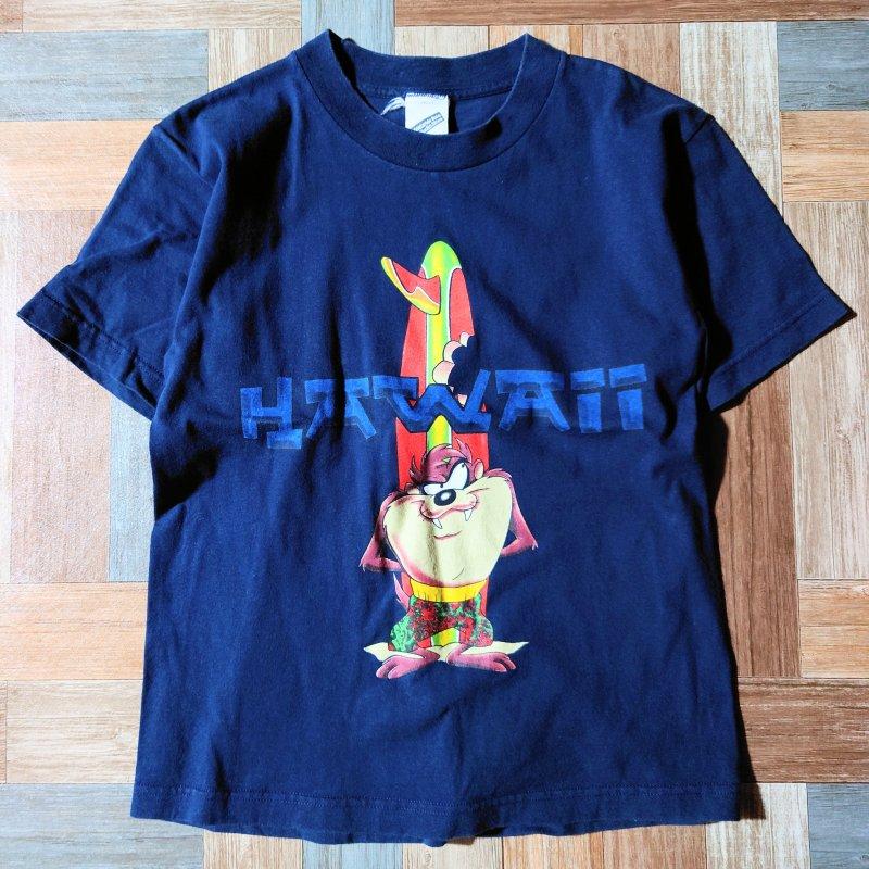 90's Warner Bros. Hawaii Tシャツ ネイビー (レディース古着)