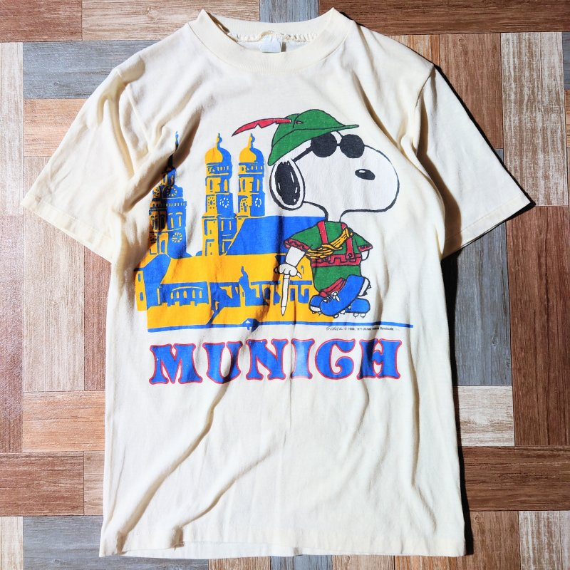 70's USA製 SNOOPY Tシャツ オフホワイト (メンズ古着)