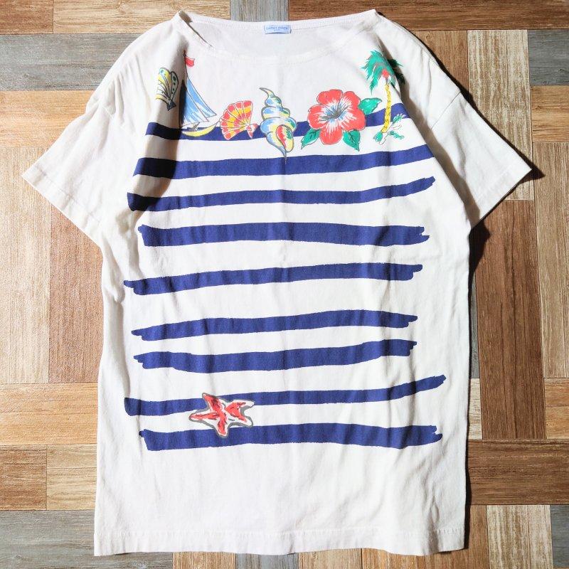 TSUMORI CHISATO ボーダー プリント Tシャツ (レディース古着)