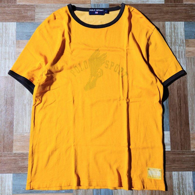 90's POLO SPORT リンガー Tシャツ (メンズ古着)