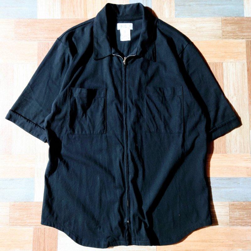 90's agnes b. ジッパー シャツ ブラック (メンズ古着)