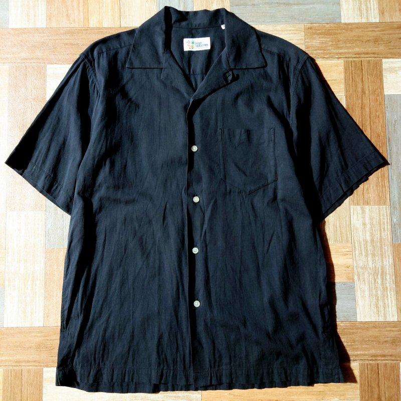 reyn spooner 半袖 開襟 シャツ ブラック (メンズ古着)