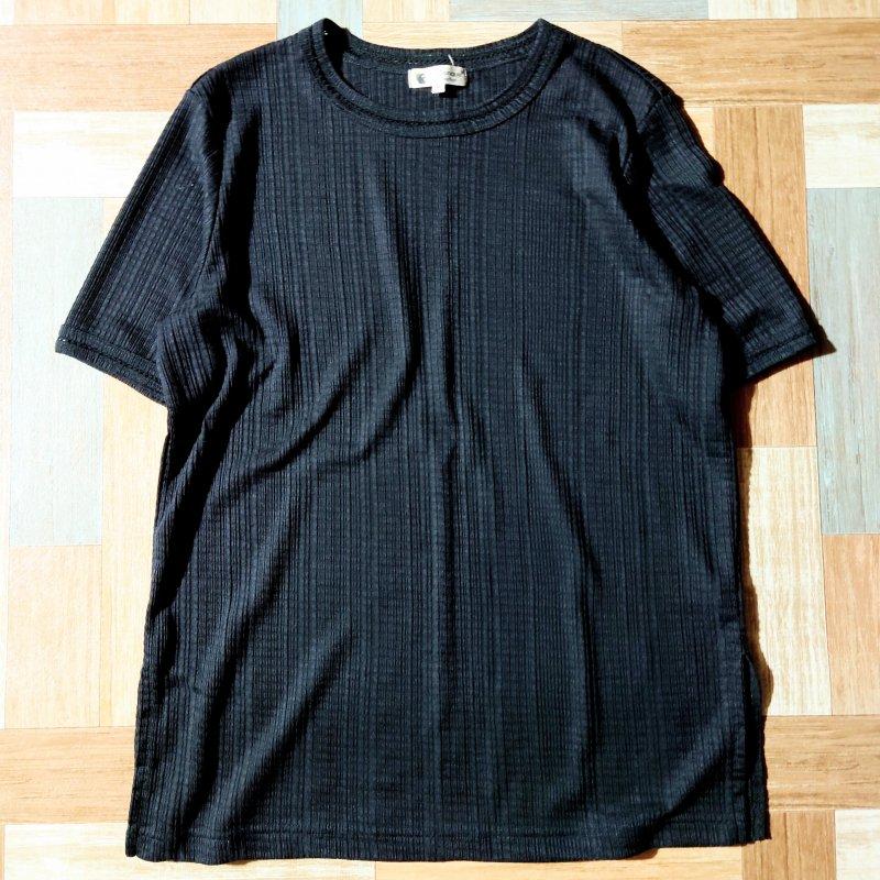La Conque デザイン Tシャツ ブラック (レディース古着)