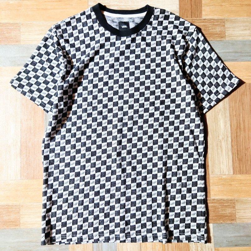 VAULT VANS LQQK STUDIO チェッカー Tシャツ (メンズ新品)