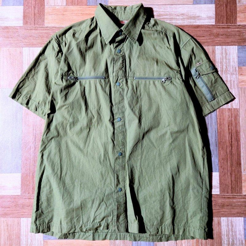90's STUSSY USA製 フィッシング シャツ (メンズ古着)