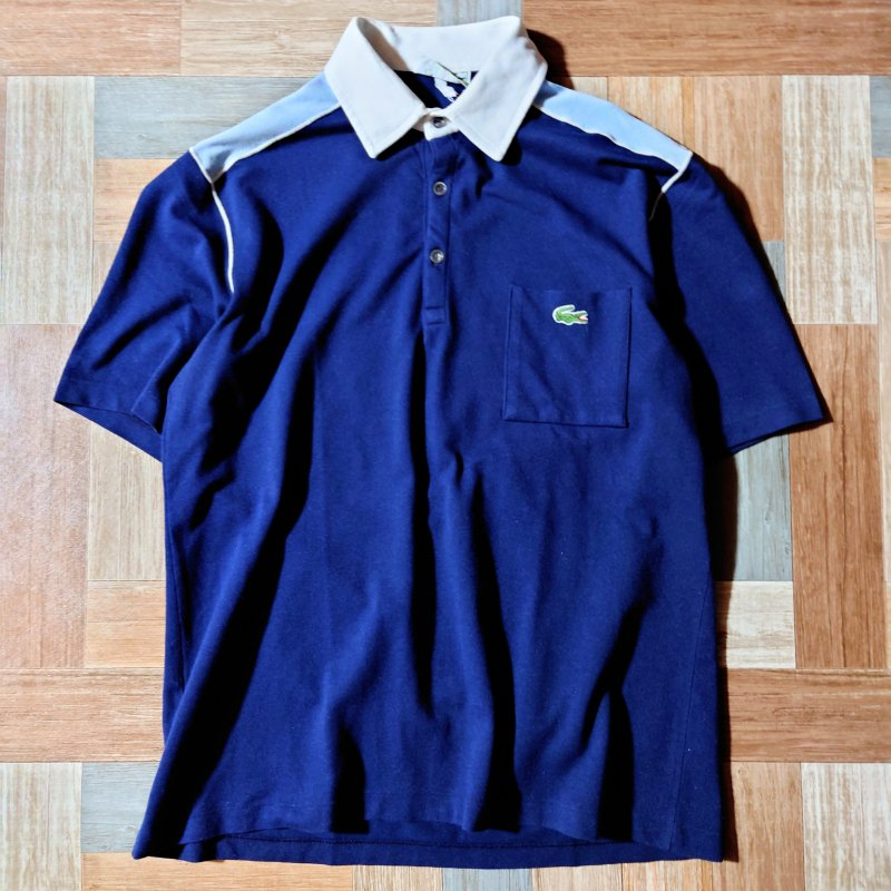 <img class='new_mark_img1' src='https://img.shop-pro.jp/img/new/icons11.gif' style='border:none;display:inline;margin:0px;padding:0px;width:auto;' />70's CHEMISE LACOSTE フランス製 ポロシャツ (メンズ古着)