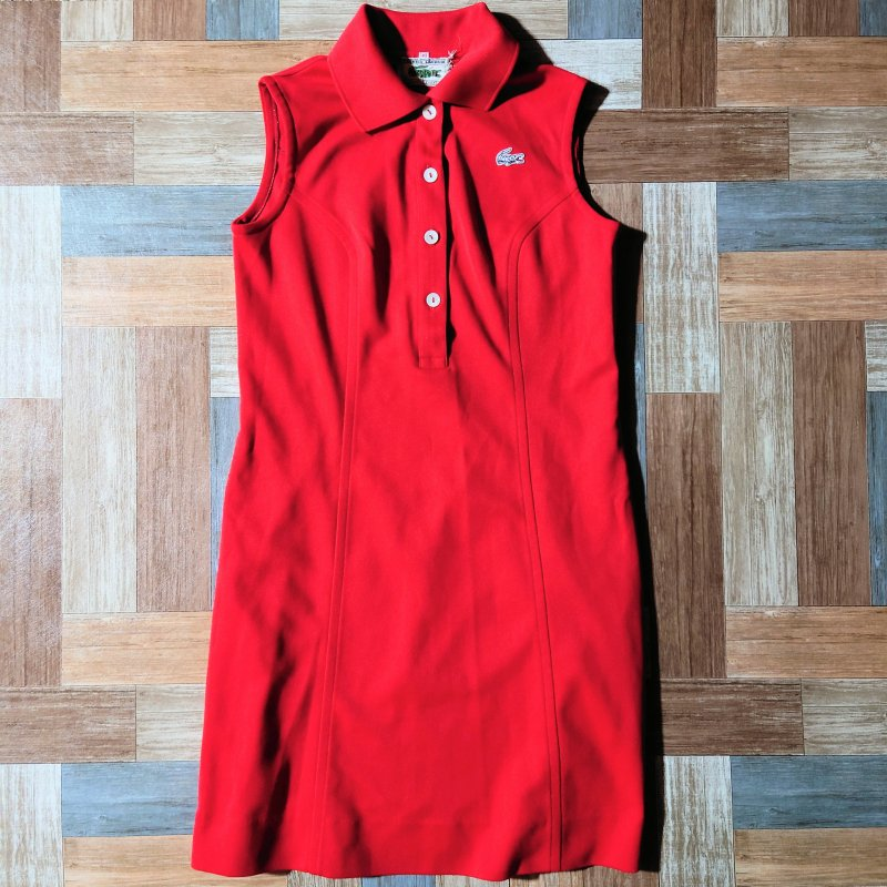 <img class='new_mark_img1' src='https://img.shop-pro.jp/img/new/icons11.gif' style='border:none;display:inline;margin:0px;padding:0px;width:auto;' />60~70's CHEMISE LACOSTE フランス製 ノースリーブ ワンピース (レディース古着)