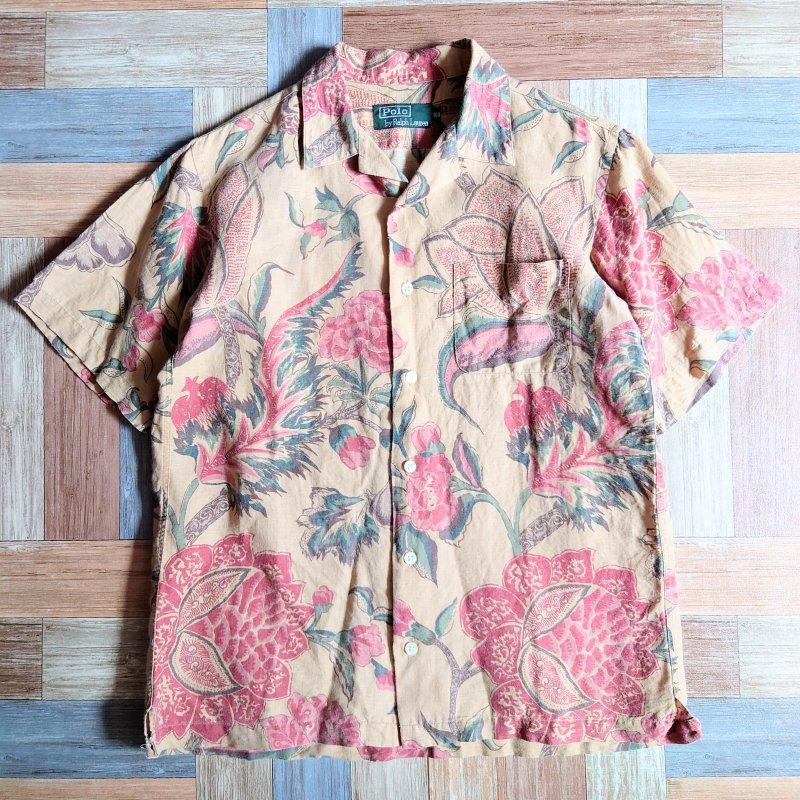 90's POLO RALPH LAUREN アロハ シャツ 160サイズ (キッズ古着)