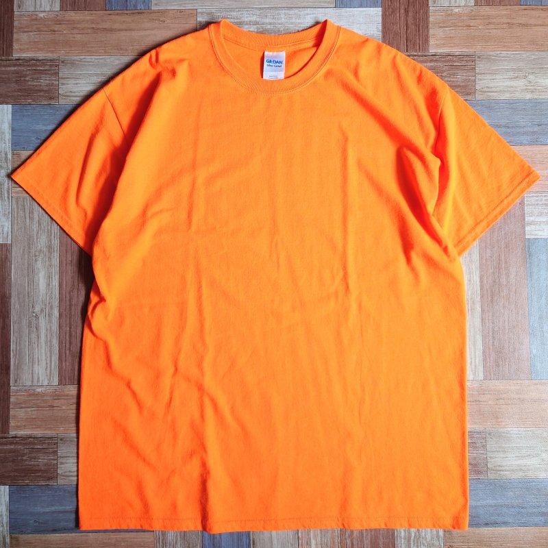 GILDAN Tシャツ オレンジ XL (メンズ古着)