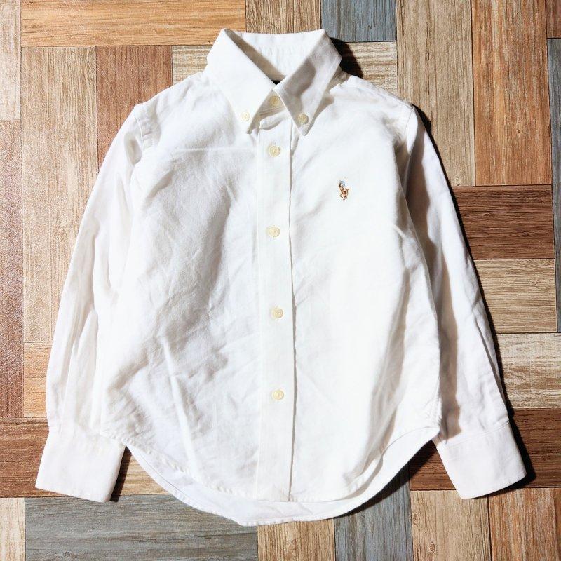 RALPH LAUREN ボタンダウン シャツ ホワイト 2T (キッズ古着)