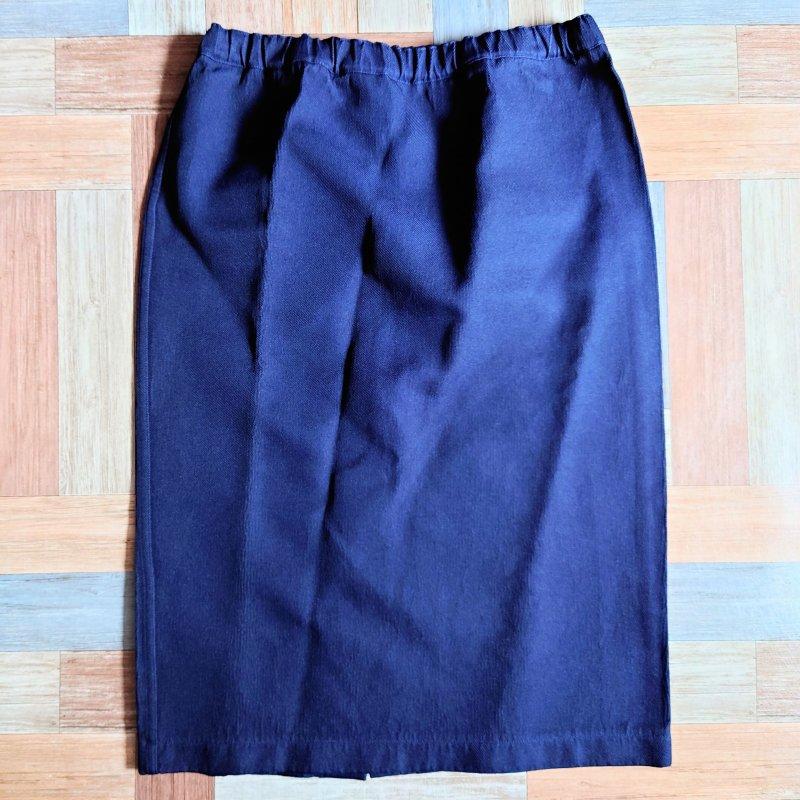 COMME des GARCONS ボンディング スカート ネイビー (レディース古着)