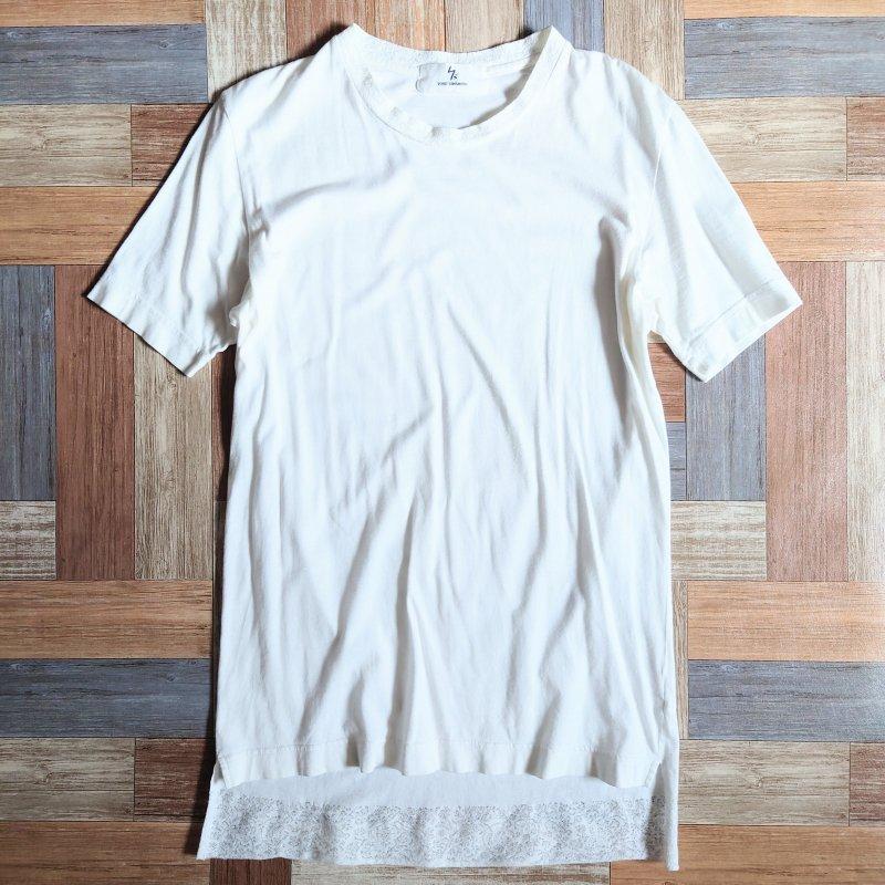 Y's レース Tシャツ ホワイト (レディース古着)