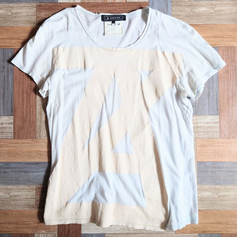 ANREALAGE Tシャツ アイスブルー (レディース古着)