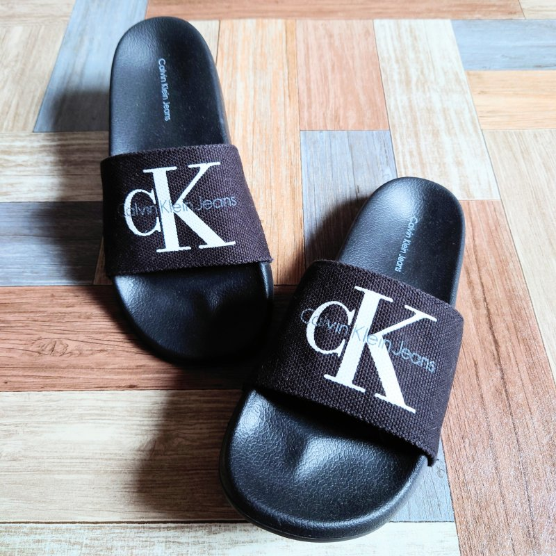 Calvin Klein Jeans スライド サンダル ブラック (レディース古着)