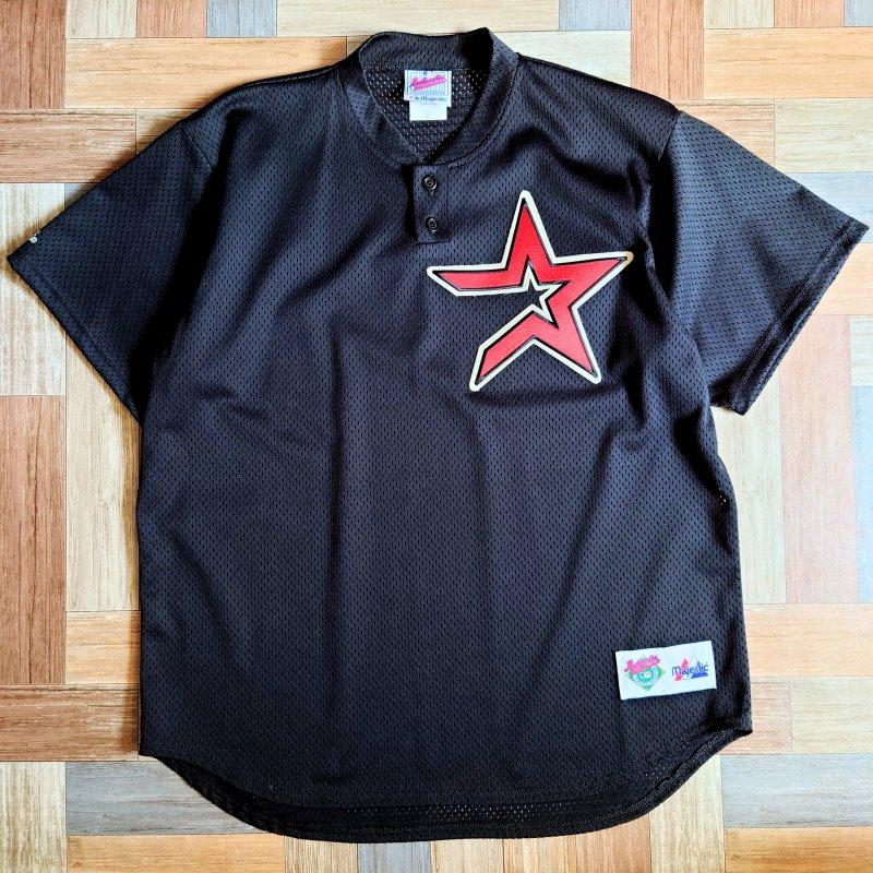 90's majestic USA製 メッシュ Tシャツ ブラック (メンズ古着)