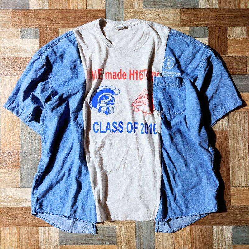 リメイク ドッキング Tシャツ (メンズ古着)